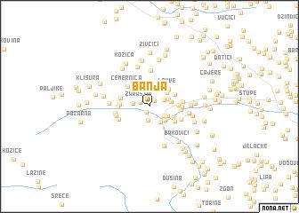 map of Banja