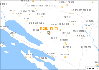 map of Banjevci