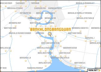 map of Ban Khlong Bang Duan