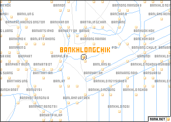 map of Ban Khlong Chik