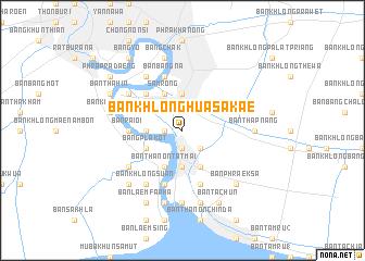 map of Ban Khlong Hua Sakae