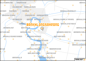 map of Ban Khlong Samrong