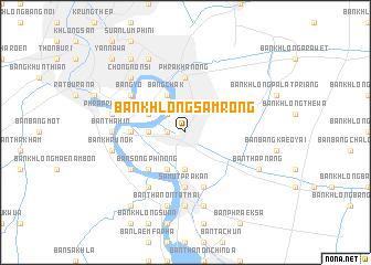 map of Ban Khlong Samrong