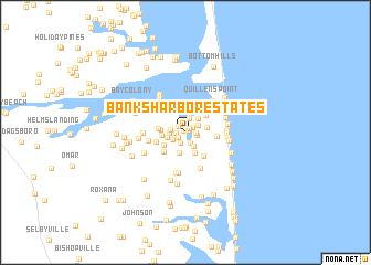 map of Banks Harbor Estates
