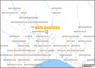 map of Ban Lahan Nok