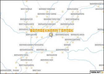 map of Ban Mae Kham Mi Tamnak