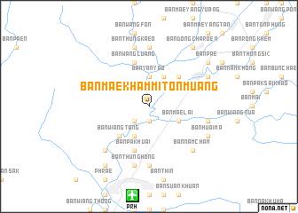 map of Ban Mae Kham Mi Ton Muang