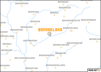 map of Ban Mae Laka