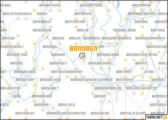 map of Ban Maen