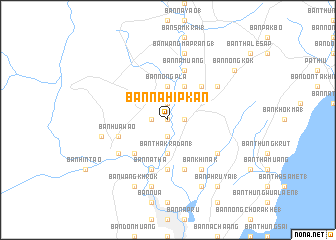 map of Ban Na Hip Kan