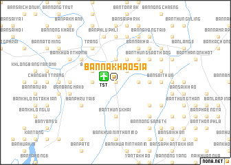 map of Ban Na Khao Sia