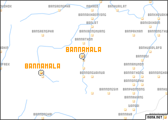 map of Ban Na Mala
