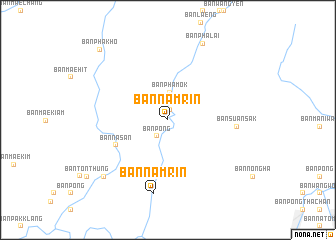 map of Ban Nam Rin