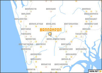 map of Ban Nam Ron