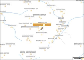 Ban Nathon Laos map nonanet