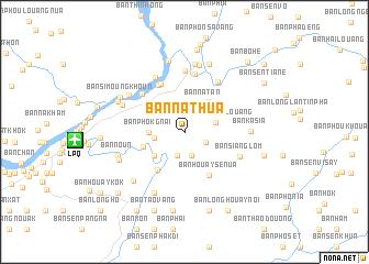 Ban Nathua Laos map nonanet