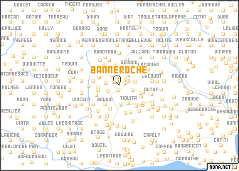 map of Banne Roche