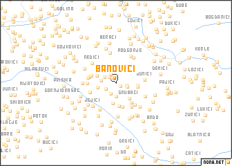 map of Banovići
