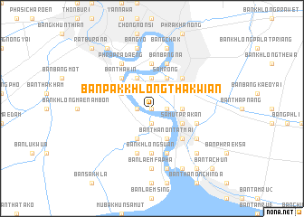map of Ban Pak Khlong Tha Kwian