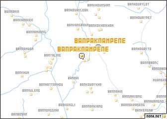 Ban Pak Nam Pene Laos map nonanet