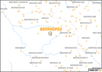 map of Ban Pho Pou