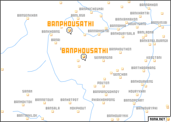 map of Ban Phousathi