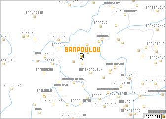 map of Ban Poulou