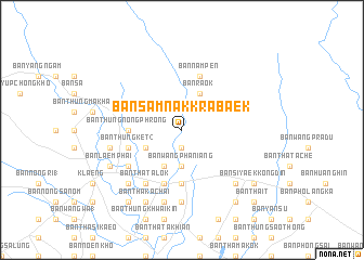 map of Ban Samnak Krabaek