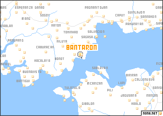 map of Bantaron