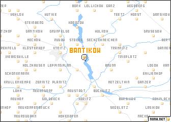 map of Bantikow