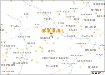 map of Bānūkīyah