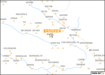 map of Bānūreh