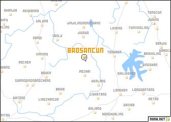 map of Baosancun
