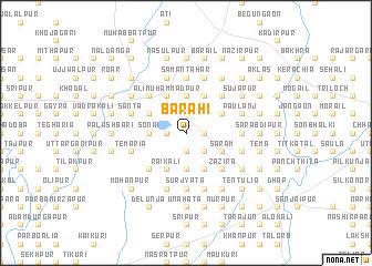 map of Barahi