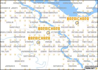 map of Baraichara