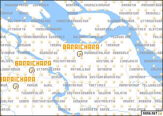 map of Barāichāra