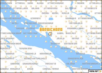 map of Baraichāra