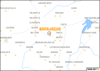 map of Barajagua