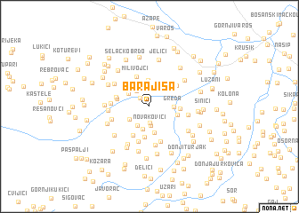 map of Barajiša