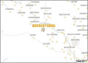 map of Barakatābād