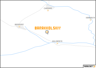 map of Barakkol'skiy