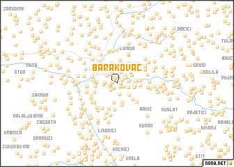 map of Barakovac