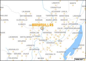 map of Barandillas