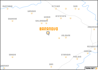 map of Baranovo