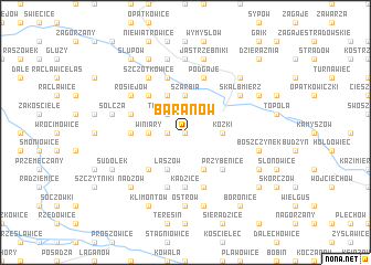 map of Baranów