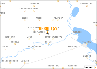 map of Barantsy