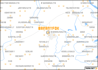 map of Bárányfok