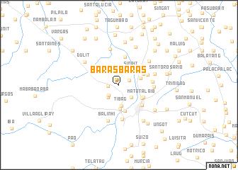 map of Baras-Baras