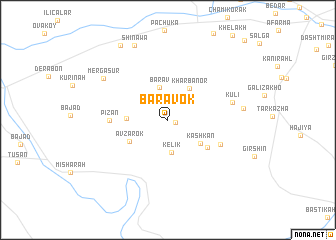 map of Baravok