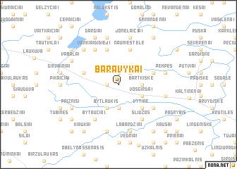 map of Baravykai